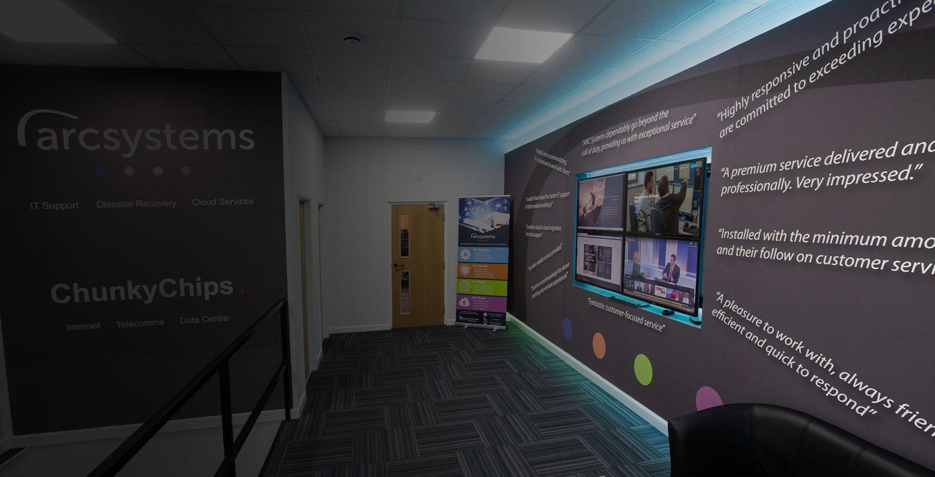 Arc systems presentation display
